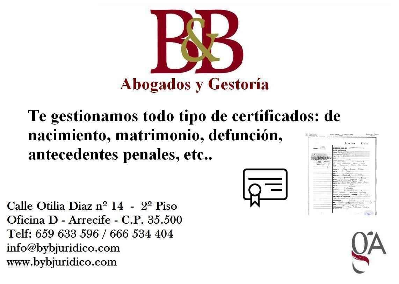 flyer certificados bybjuridico